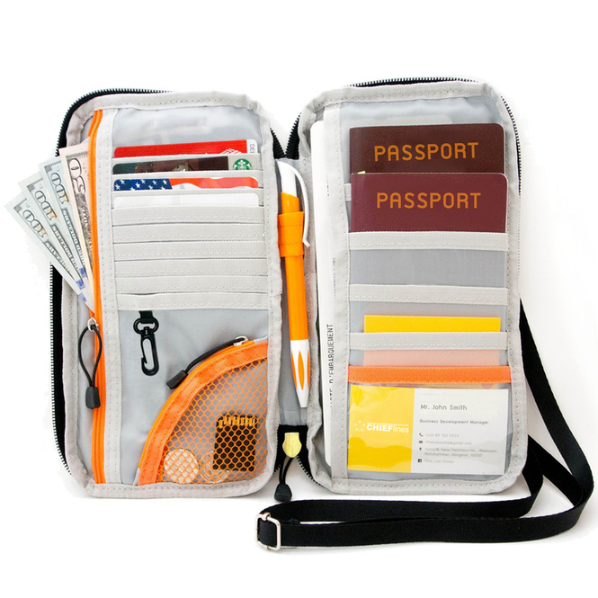 Organizer for Credit & Business Cards, Document, Boarding Pass, and Accessories